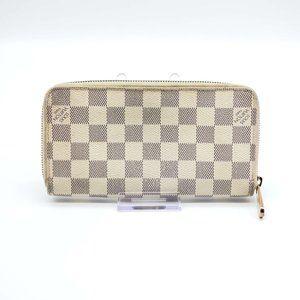 Authentic Louis Vuitton Zippy Damier Azur Wallet